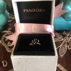 Pandora black flower